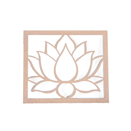 Ahsap Hobi Boyama Lotus Nilufer Cicegi Tablo 48x55cm N11 Com