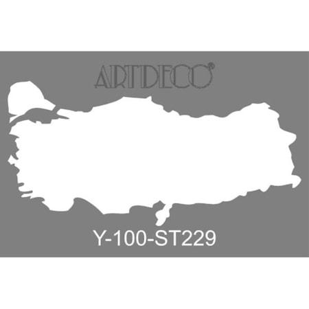 Artdeco Stencil Boyama şablonu 20x30 Cm 229 Türkiye Haritası N11com