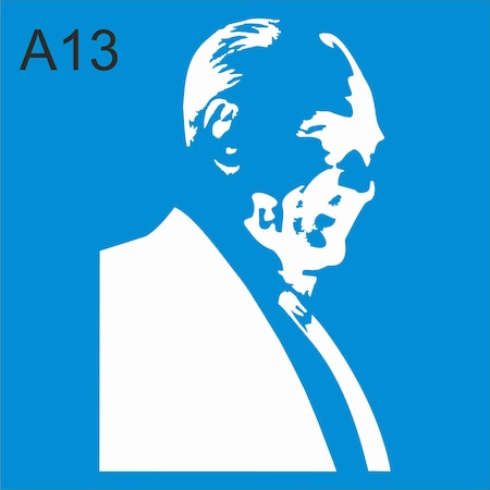 Ataturk Stencil Ahsap Boyama Sablonu N11 Com