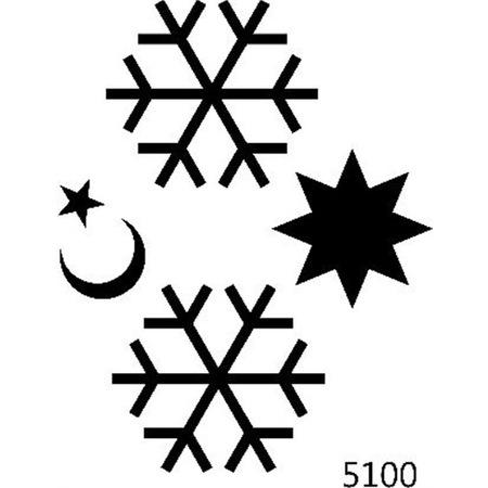 Ay Yıldız Ve Kartanesi Stencil Boyama şablonu N11com