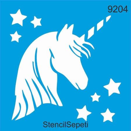 Boynuzlu At Unicorn Stencil Ahsap Boyama Sablonu N11 Com