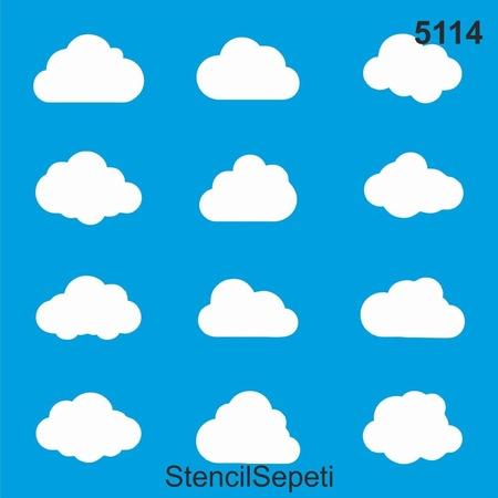 Bulutlar Stencil Ahsap Boyama Sablonu N11 Com