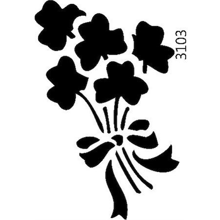 çiçek Buketi Stencil Boyama şablonu N11com