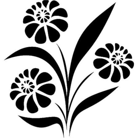 çiçek Deseni Stencil Boyama şablonu N11com