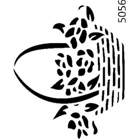 çiçek Sepeti Stencil Boyama şablonu N11com
