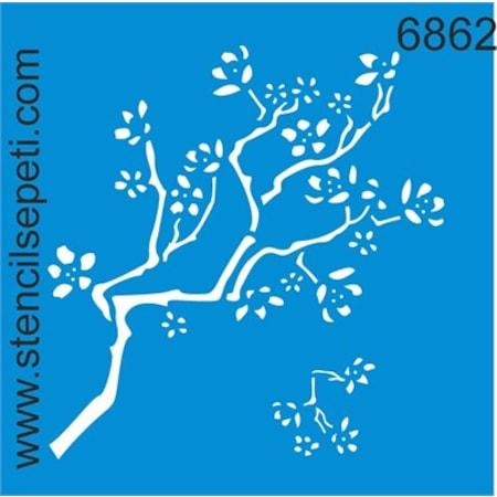 Dal Ve Yapraklar Stencil Boyama şablonu N11com