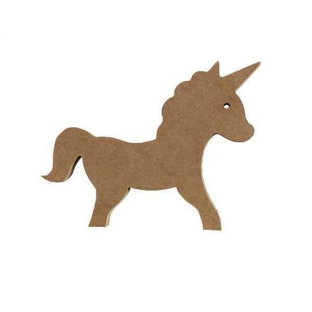 Dekoratif Ahsap Unicorn Tek Boynuzlu At Figuru 23x15 Cm N11 Com