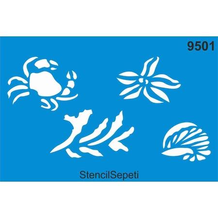 Deniz Canlilari Stencil Ahsap Boyama Sablonu N11 Com