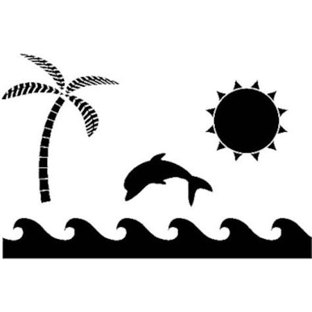 Deniz Manzarası Stencil Boyama şablonu N11com