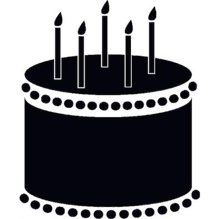 Doğum Günü Pastası Stencil Boyama şablonu N11com
