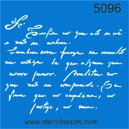 El Yazısı Mektup Stencil Boyama şablonu N11com