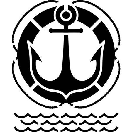 Gemi çapası Stencil Boyama şablonu N11com
