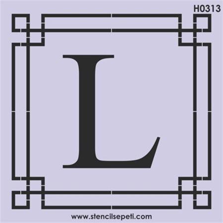 Harfler L Stencil Boyama şablonu N11com