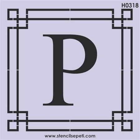 Harfler P Stencil Boyama şablonu N11com