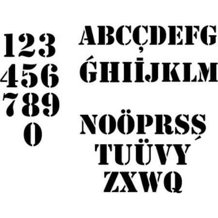 Harfler Ve Rakamlar 42 Parçalık Takım Stencil Boyama şablonu N11com