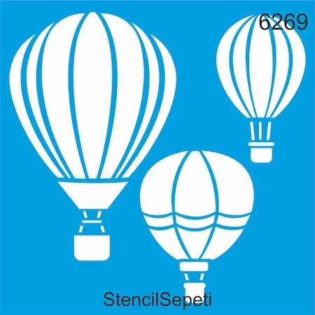 Hava Balonu Stencil Ahsap Boyama Sablonu N11 Com