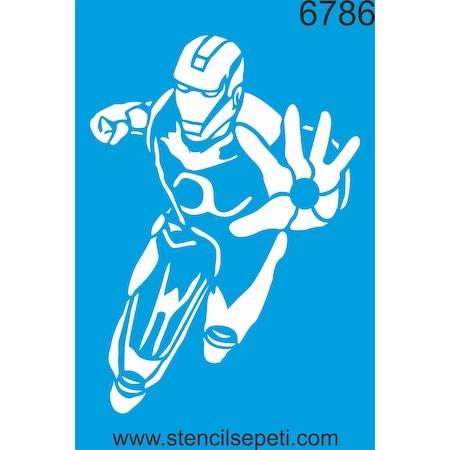 Iron Man Stencil Ahşap Boyama şablonu N11com