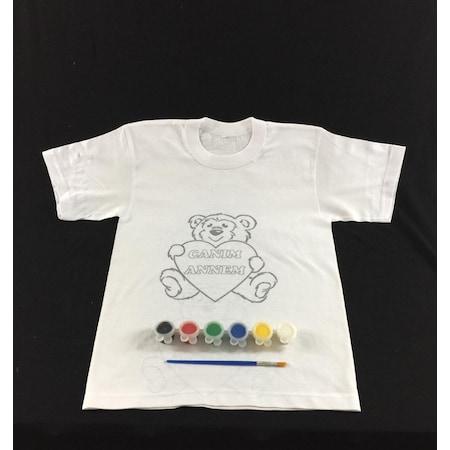 Joy And Toys Canım Annem Tişört Boyama Seti Sevimli Ayıcık N11com
