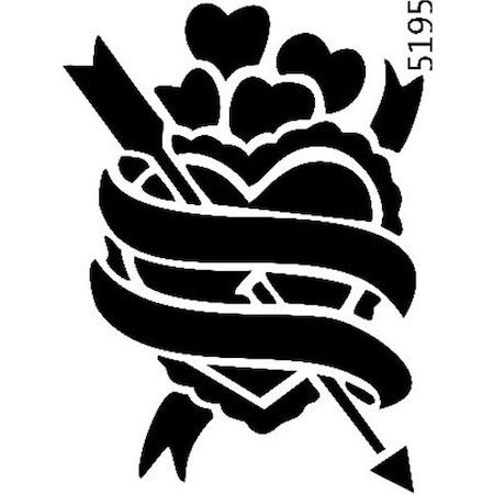 Kalp Ve Ok Stencil Boyama şablonu N11com