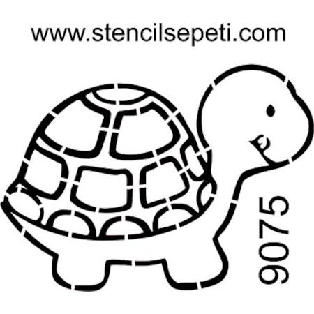 Kaplumbağa Stencil Boyama şablonu N11com
