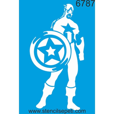 Kaptan Amerika Stencil Ahşap Boyama şablonu N11com