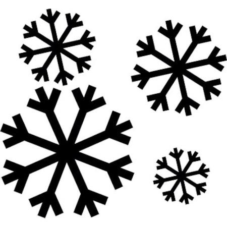 Kar Tanesi Stencil Boyama şablonu N11com