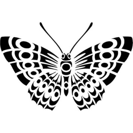 Kelebek Deseni Stencil Boyama şablonu N11com