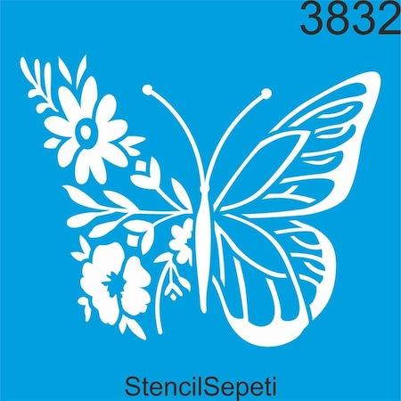 Kelebek Ve Cicekler Stencil Ahsap Boyama Sablonu N11 Com