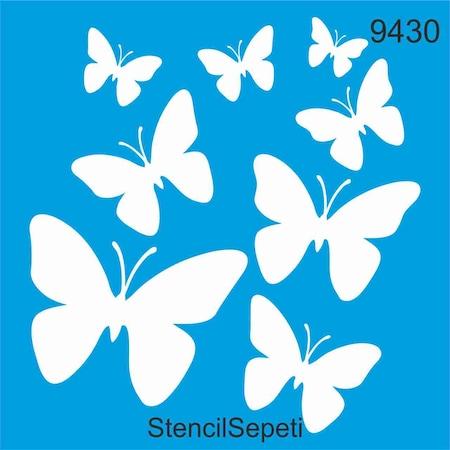 Kelebekler Stencil Ahsap Boyama Sablonu N11 Com