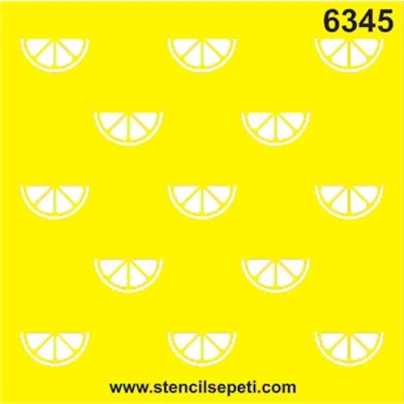 Mini Limon Stencil Boyama şablonu N11com
