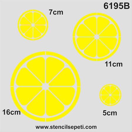 Limon Stencil Boyama şablonu N11com