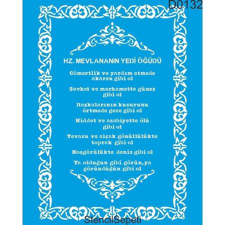 Mevlana Nin Ogutleri Stencil Ahsap Boyama Sablonu N11 Com