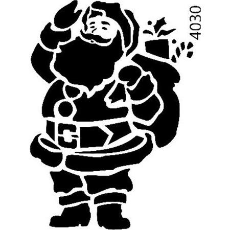 Noel Baba Stencil Boyama şablonu N11com