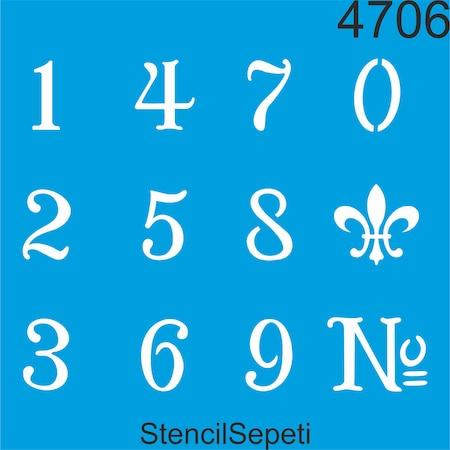 Rakamlar Stencil Ahsap Boyama Sablonu N11 Com