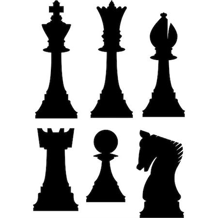 Satranç Taşları Stencil Boyama şablonu N11com