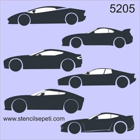 Spor Arabalar Stencil Boyama şablonu N11com