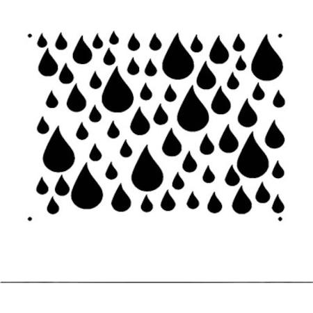 Su Damlaları Stencil Boyama şablonu N11com