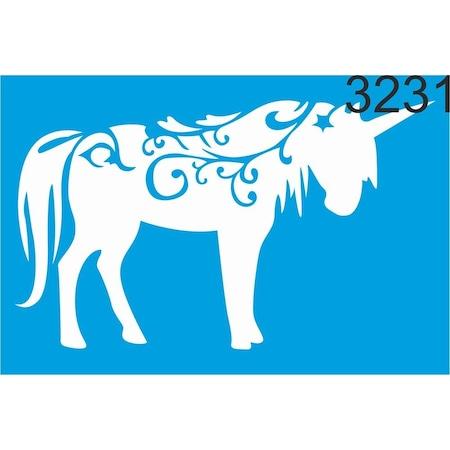 Tek Boynuzlu At Unicorn Stencil Ahsap Boyama Sablonu N11 Com
