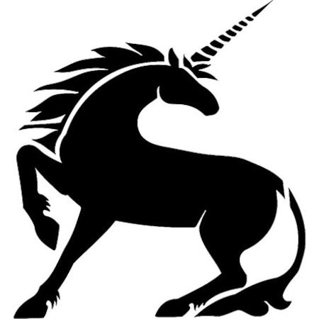 Tek Boynuzlu At Unicorn Stencil Boyama şablonu N11com