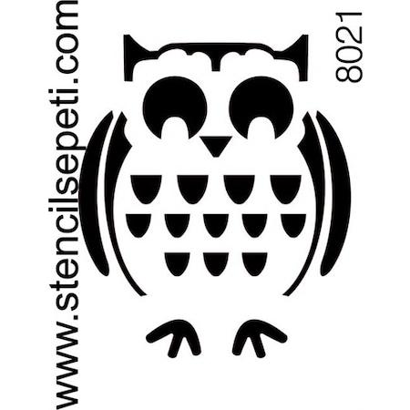 Tombul Baykuş Stencil Boyama şablonu N11com