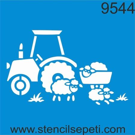Traktör Stencil Boyama şablonu N11com