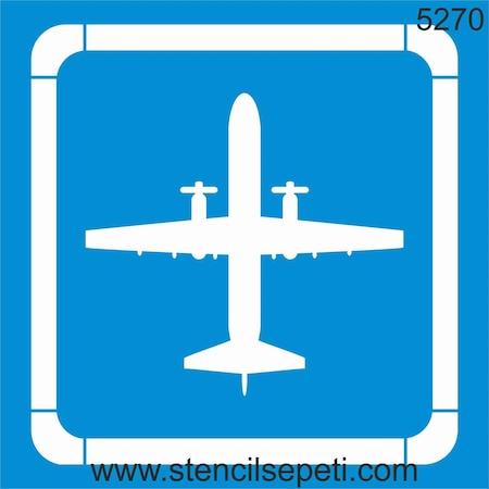 Uçak Stencil Boyama şablonu N11com
