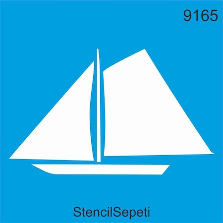 Yelkenli Gemi Stencil Ahsap Boyama Sablonu N11 Com