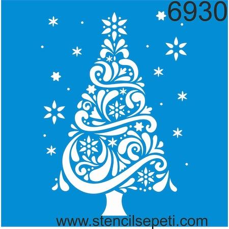Yılbaşı Ağacı Stencil Boyama şablonu N11com