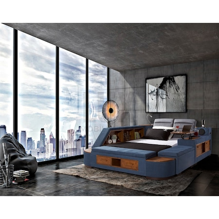 Dreams Modern Yatak Odasi Mavi 120x200
