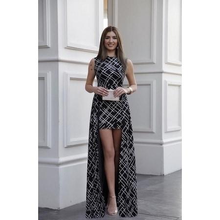 c51d9f6326c8e Arkası Uzun Önü Mini Abiye Kısa Elbise Mezuniyet Düğün - n11.com