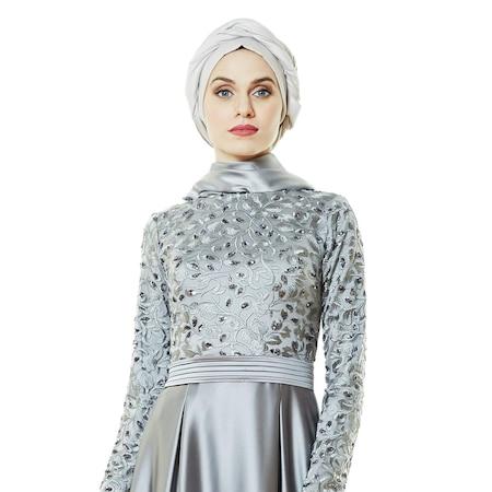 e7ff81ff3e37f Fashion Night Abiye Elbise-gri 2145-04 - n11.com