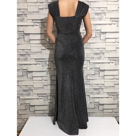 c5c8a814c2fc6 Kadın Kalın Askılı Simli Licralı Balık Elbise - n11.com