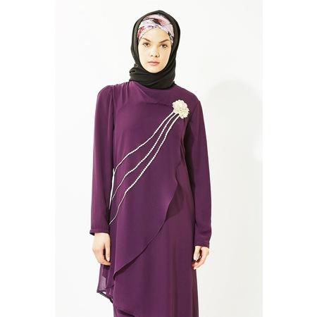 671093b905e72 Elbise Mor Tesettür Giyim - n11.com - 6/7