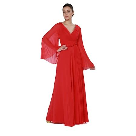 e223131f339a7 Uzun Kollu Uzun Elbiseler 2019 Abiye & Gece Elbise Modelleri - n11.com